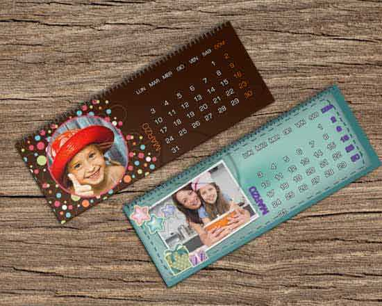 calendari personalizzati da scrivania