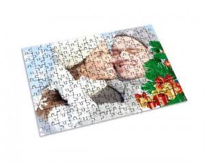 Puzzle in cartoncino da regalare per Natale