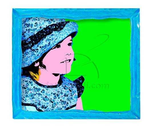 azzurro foto su legno