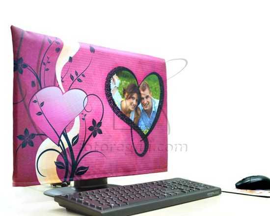 Foto su Copri Monitor a cuore