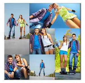 Collage su Tela per San Valentino