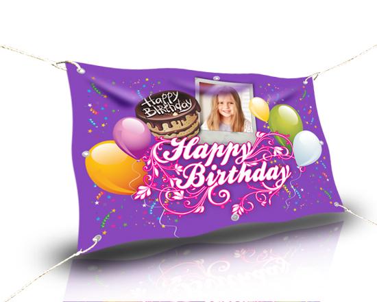 striscione personalizzato per festa di compleanno