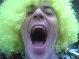 Scherzi Laurea con Parruca Verde