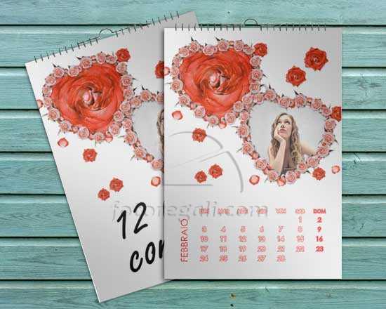 calendario personalizzato pagina singola