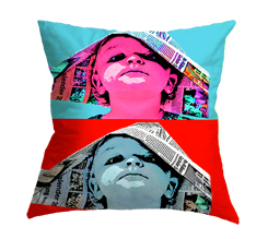 pop art su cuscino