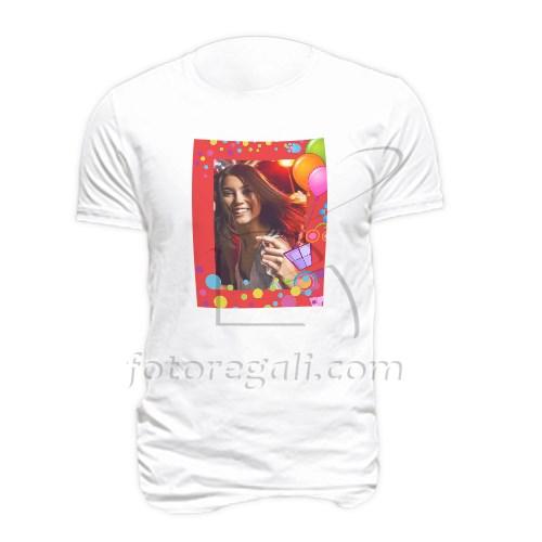 stampa foto compleanno su maglietta