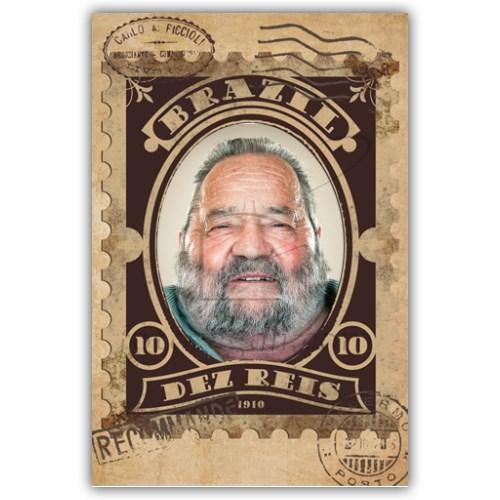 foto su biglietto nonno