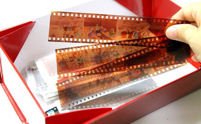 negativi delle vecchie stampe fotografiche